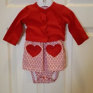 Valentine's Day Dress and Sweater
